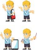 Blondynki Bogatej chłopiec Dostosowana maskotka 10 Obraz Stock