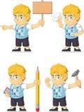 Blondynki Bogatej chłopiec Dostosowana maskotka 12 Zdjęcia Stock