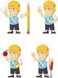 Blondynki Bogatej chłopiec Dostosowana maskotka 14 Obrazy Stock