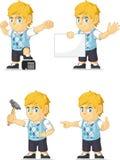 Blondynki Bogatej chłopiec Dostosowana maskotka 17 Obraz Stock