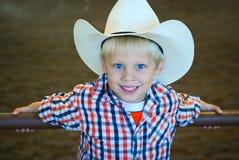 Blondynka włosy kowboj Obrazy Royalty Free