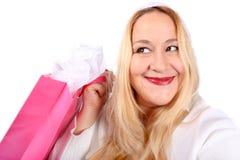 blondynki damy kupujący zdjęcie stock