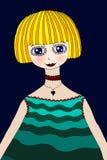 Blondynki Dziewczyna ilustracji