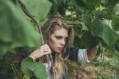 Blondynki kobieta Fotografia Royalty Free