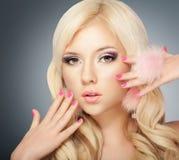 Blondynki dziewczyny portret obraz stock