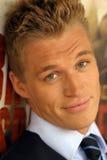 blondynki faceta potomstwa Zdjęcia Royalty Free