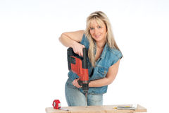 blondynki kobieta pracuje potomstwa Fotografia Stock