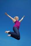 blondynki kobieta szczęśliwa wysoka skokowa fotografia stock