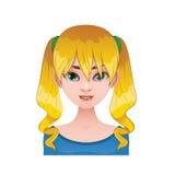 Blondynki kobieta z pigtails Zdjęcie Stock