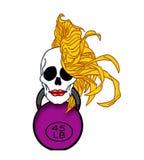 Blondynki kobiety czaszka Zdjęcia Royalty Free