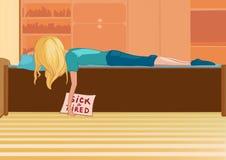 Blondynki kreskówki dziewczyna Obraz Stock