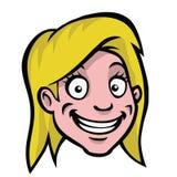 blondynki kreskówki dziewczyny głowa Obrazy Royalty Free