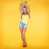Blondynki młoda kobieta Fotografia Stock