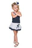 Blondynki mała dziewczynka wyobraża sobie Obraz Stock
