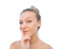 blondynki mrugnięcia kobieta Obraz Stock