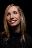 blondynki noc uśmiechnięta kobieta Zdjęcie Stock