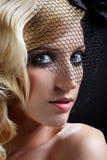 blondynki piękna przesłona zdjęcia stock