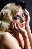 blondynki piękna przesłona obraz stock