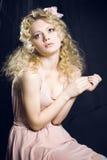 Blondynki piękna dziewczyna Obraz Stock