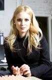 blondynki portreta potomstwa obraz stock