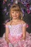 Blondynki princess w różowej sukni Obraz Royalty Free