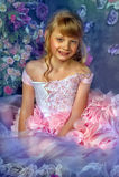 Blondynki princess w różowej sukni Obrazy Stock
