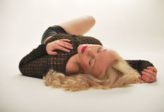 blondynki puszka target1564_0_ Fotografia Stock