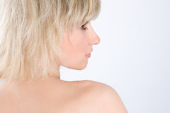Blondynki seksowna kobieta Fotografia Stock