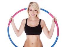 blondynki sprawności fizycznej kobieta obrazy stock