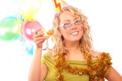 blondynki szampana szkło zdjęcia stock