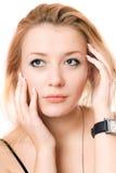 blondynki zbliżenia zadumany portret Obraz Royalty Free
