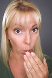 blondyny szokująca kobieta Obraz Stock