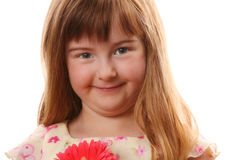 Blone Girl with Flower Stock Images