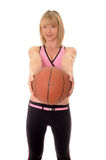 Blong girl basketball Stock Photography