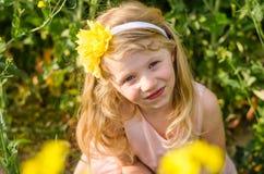 Blong girl portrait Stock Photography