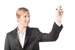 blont diagram som tecknar den stiliga mannen fotografering för bildbyråer