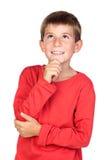 blont eftertänksamt barnhår Fotografering för Bildbyråer