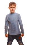 Blont för ond rastroennyh för Agresivny barn missnöjt royaltyfria foton