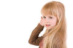 blont flickabarn Fotografering för Bildbyråer