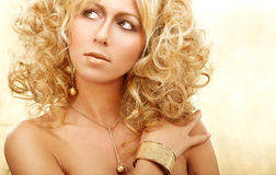 blont guld- Royaltyfri Foto
