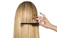 blont hår Royaltyfri Fotografi