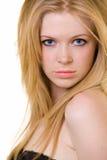 blont hårkvinnabarn Royaltyfria Foton