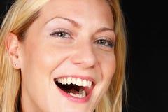 Blont le för flicka royaltyfri fotografi