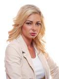 Blont posera för kvinna, Arkivfoto