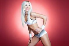 blont sexigt för idrottsman nen Royaltyfri Foto
