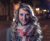 Blont utomhus- på höstaftonen Royaltyfria Foton