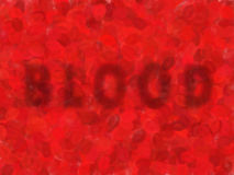Blood. Cells background red blur Stock Photography
