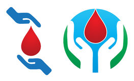 Blood. Illustration of blood donation concept on white background Royalty Free Stock Photography