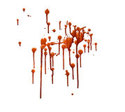 Blood. Dripping splattered blood for all your ghoulish endeavors stock photos