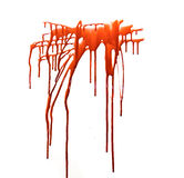 Blood. Splattered blood dripping and running down for your renders stock photography